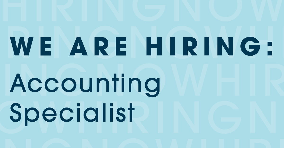 Join our team as our Accounting Specialist