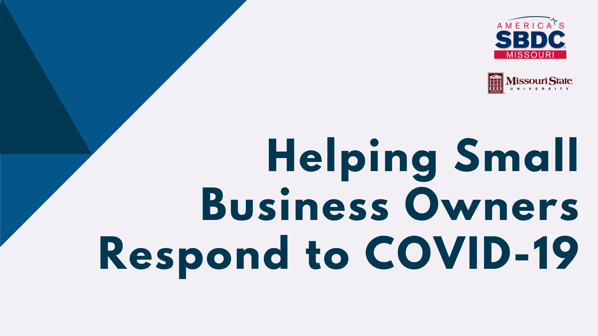 Helping Small Business Owners Respond to COVID-19